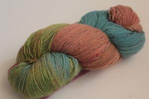 Handgefärbte Sockenwolle Tweed 4-fädig Nr. 112 von Farbenspielerei - Handarbeit kaufen