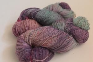 Handgefärbte Sockenwolle Tweed 4-fädig Nr. 110 von Farbenspielerei