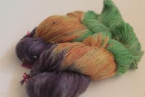 Handgefärbte Sockenwolle Tweed 4-fädig Nr. 103 von Farbenspielerei