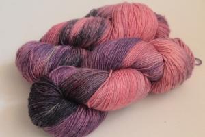 Handgefärbte Wolle Merino-Seide-Leinen Nr. 180 für Socken und mehr von Farbenspielerei - Handarbeit kaufen
