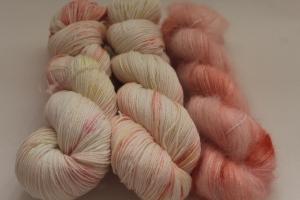 Handgefärbte Wolle Merino-Seide-Ramie und Mohair-Seide Set 20/18 von Farbenspielerei