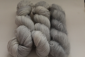 Handgefärbte Wolle Merino-Seide-Ramie und Mohair-Seide Set 20/20 von Farbenspielerei