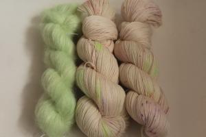 Handgefärbte Wolle Merino-Seide-Ramie und Mohair-Seide Set 20/32 von Farbenspielerei