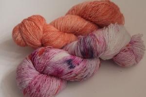 Handgefärbtes Lacegarn Merino Set 106 von Farbenspielerei