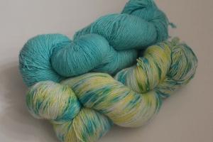 Handgefärbtes Lacegarn Merino-Seide Set 104 von Farbenspielerei - Handarbeit kaufen