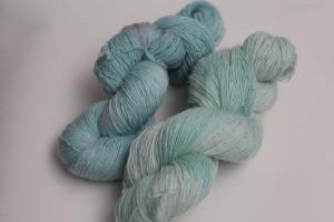 Handgefärbtes Lacegarn Merino-Seide Set ZFs1S von Farbenspielerei - Handarbeit kaufen