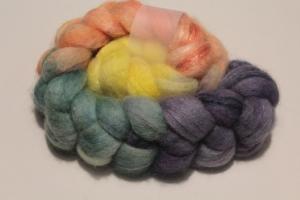 Handgefärbter Kammzug BFL-Nylon Nr. 136 von Farbenspielerei