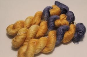 Handgefärbte Wolle Merino-Mohair 21/12 AP von Farbenspielerei