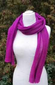 Wollschal lila violett - Handarbeit kaufen