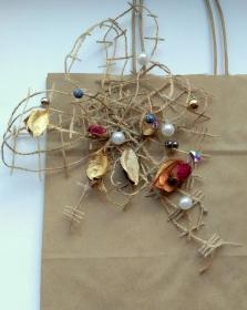 Rose Papier Geschenktüten Hochzeitsgeschenk Kraft Papiertüten mit Griffen  - Handarbeit kaufen