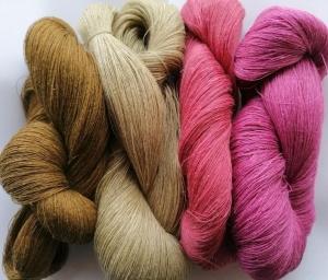 Leinengarn beige braun rosa 400 g (14 oz), Spinnennetz / 1 Lage, jede Strähne enthält ungefähr 3000 m  - Handarbeit kaufen