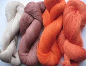 Leinengarn beige braun orange 400 g (14 oz), Spinnennetz / 1 Lage, jede Strähne enthält ungefähr 3000 m   - Handarbeit kaufen