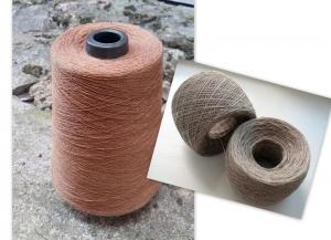 Leinengarn 100 g 1-lagig in Kugeln Beige Braun - Handarbeit kaufen