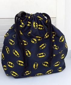 Innenbeutel für Leder Netztasche in schwarz mit gelb - Handarbeit kaufen